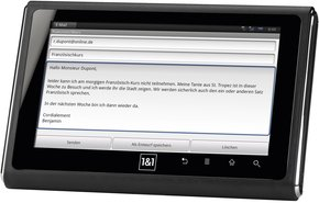 1UND1 SMARTPAD MAIL SCREEN