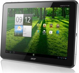 ACER ICONIA TAB A701 A700 FRONT ANGLE BLACK