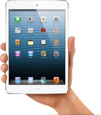 APPLE IPAD MINI WHITE IN HAND