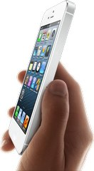 APPLE IPHONE 5 WHITE IN HAND