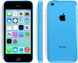 apple iphone 5c front back right blue