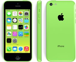 apple iphone 5c front back right green
