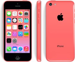 apple iphone 5c front back right pink