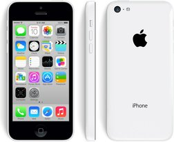 apple iphone 5c front back right white