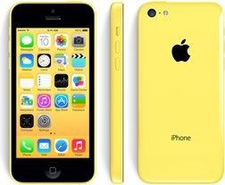 apple iphone 5c front back right yellow