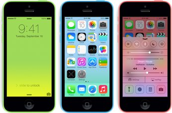 APPLE IPHONE 5C IOS7 FRONT