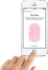 APPLE IPHONE 5S TOUCHID IN USE