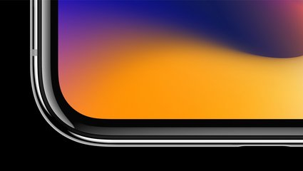 apple iphone x front crop corner