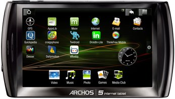 ARCHOS 5 INTERNET TABLET FRONT