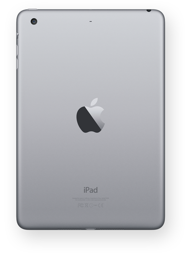 Photo: apple_ipad_mini_3_display_back_spacegray_large.png ... Ipad 3 Png