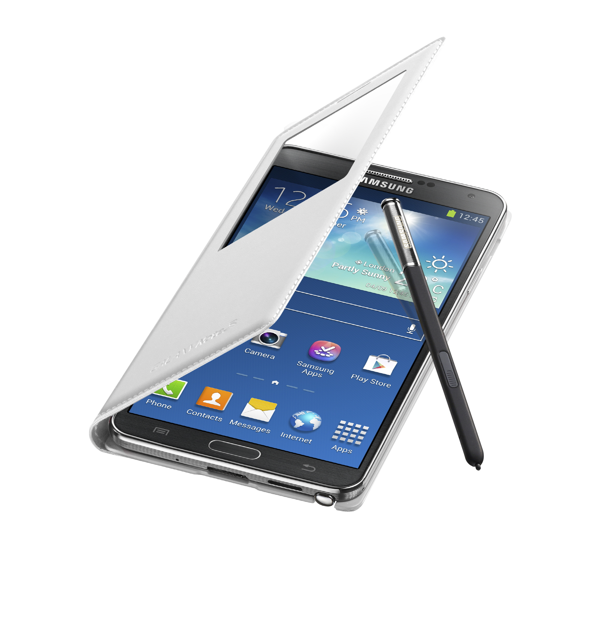 photo samsung galaxy note 3 s view cover 004 open pen. Black Bedroom Furniture Sets. Home Design Ideas