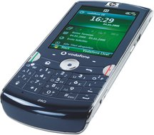 hp ipaq voice messenger front angle