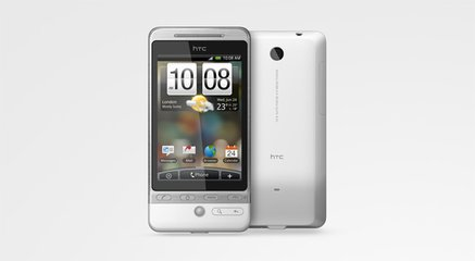 htc hero white front back