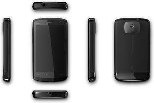 htc touch hd black stone