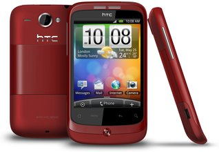 HTC WILDFIRE RED BACK FRONT SIDE