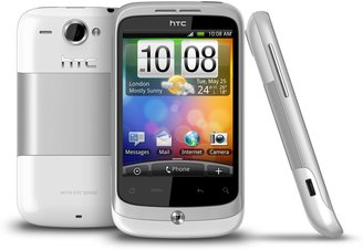 HTC WILDFIRE WHITE BACK FRONT SIDE