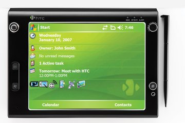 htc x7500 front