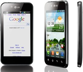 LG P970 OPTIMUS BLACK VIEWS