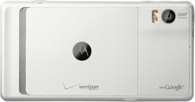 MOTOROLA DROID 2 WHITE BACK HORIZ