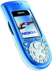 NOKIA 3650 FRONT ANGLE BLUE