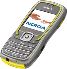 NOKIA 5500 FRONT ANGEL SPORT GREY