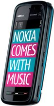 nokia 5800 xpress music front angle