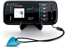 nokia 5800 xpress music front with stand