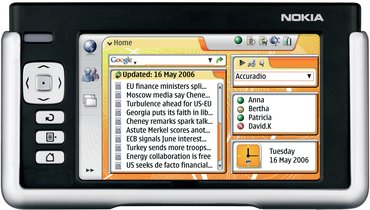 NOKIA 770 INTERNET TABLET FRONT 2