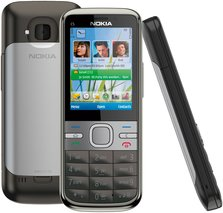 NOKIA C5-00 GRAY BACK FRONT SIDE