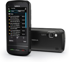 NOKIA C6-00 BLACK BACK CLOSED