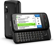 NOKIA C6-00 BLACK BACK OPEN