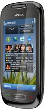 NOKIA C7-00 CHARCOAL BLACK FRONT ANGLE