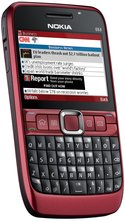NOKIA E63 FRONT ANGLED RED