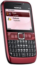 NOKIA E63 FRONT ANGLED RED 2