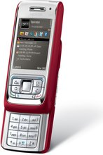 NOKIA E65 FRONT ANGLED OPEN RED