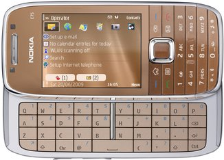 NOKIA E75 FRONT OPEN COPPER
