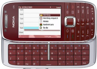 NOKIA E75 FRONT OPEN RED