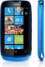NOKIA LUMIA 610 CYAN FRONT RIGHT