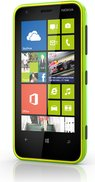 nokia lumia 620 lime green front