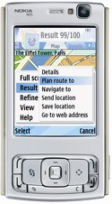 nokia n95 front closed silver
