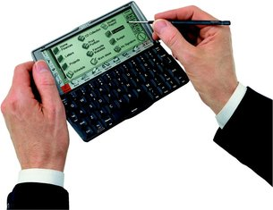 PSION SERIES 5MX IN HAND