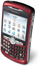 RIM BLACKBERRY CURVE 8310 RED ATT TOP ANGLE