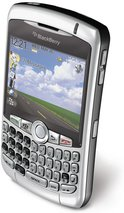RIM BLACKBERRY CURVE 8310 SILVER TOP ANGLE