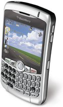 RIM BLACKBERRY CURVE 8320 SILVER TOP ANGLE