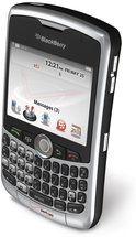 RIM BLACKBERRY CURVE 8330 SILVER VERIZON TOP ANGLE