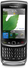 rim blackberry torch 9800 telus front open