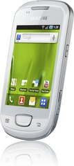 samsung galaxy mini white front angle