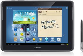 samsung galaxy note 101 gray front spen