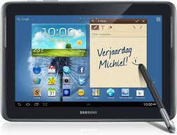samsung galaxy note 101 gray front spen2