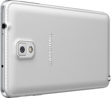 SAMSUNG GALAXY NOTE 3 012 BACK LEFT PERSPECTIVE CLASSIC WHITE